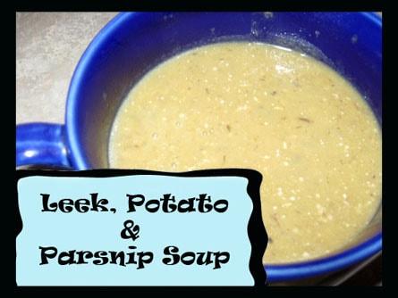 Leek, Potato, and Parsnip Soup