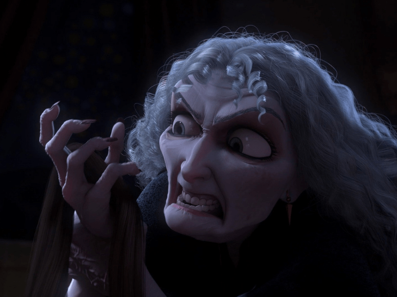 Mother Gothel evil persona