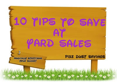 How to Save Money at a Yard Sale