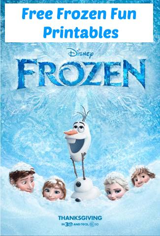 Frozen printable activities