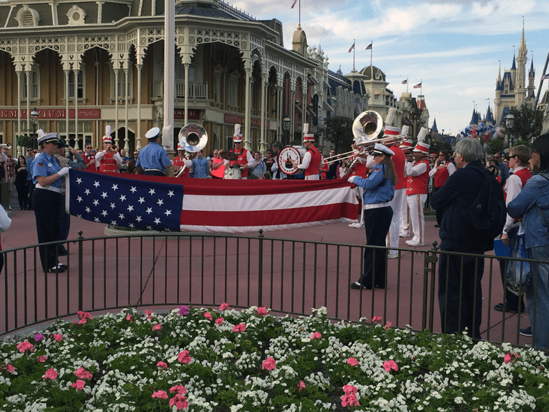 Flag Retreat Main Street U.S.A