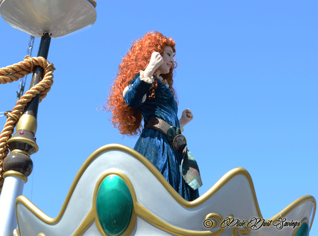 Merida from Brave on a Festival of Fantasy Float