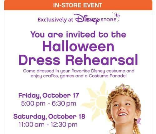 Disney Store Halloween Dress Rehearsal