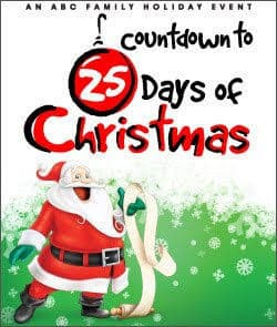 Countdown to the 25 Days of Christmas Schedule