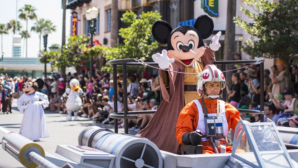 """The Power of the Force and the Magic of Disney combine for a Star WarsÊfan-fest like no other each year during Star Wars Weekends at Disney's Hollywood Studios at Walt Disney World Resort in Lake Buena Vista, Fla. ÊThe event features more than 60 officialÊStar Wars characters roaming the theme park; Disney pals dressed like their favorite Star WarsÊcharacters; a Star Wars motorcade;Êcelebrity appearances; live entertainment; limited-edition merchandise; special editions of Jedi Training Academy and the """"Symphony in the Stars"""" nighttime fireworks spectacular. ÊTaking place on select Fridays, Saturdays and Sundays in May and June, mostÊStar Wars Weekends event activities are included in regular theme park admission. (Matt Stroshane, photographer)"""