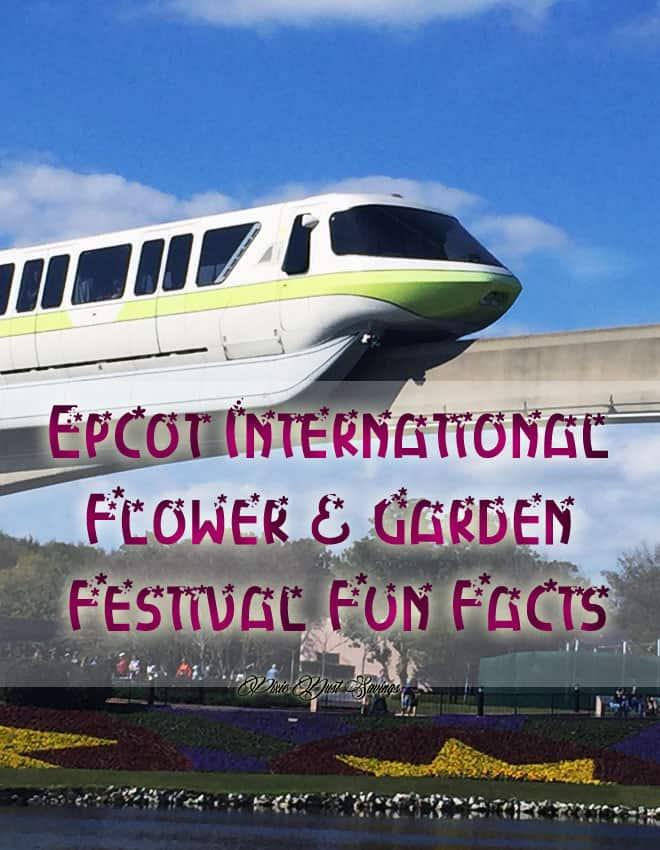Epcot International Flower & Garden Festival Fun Facts