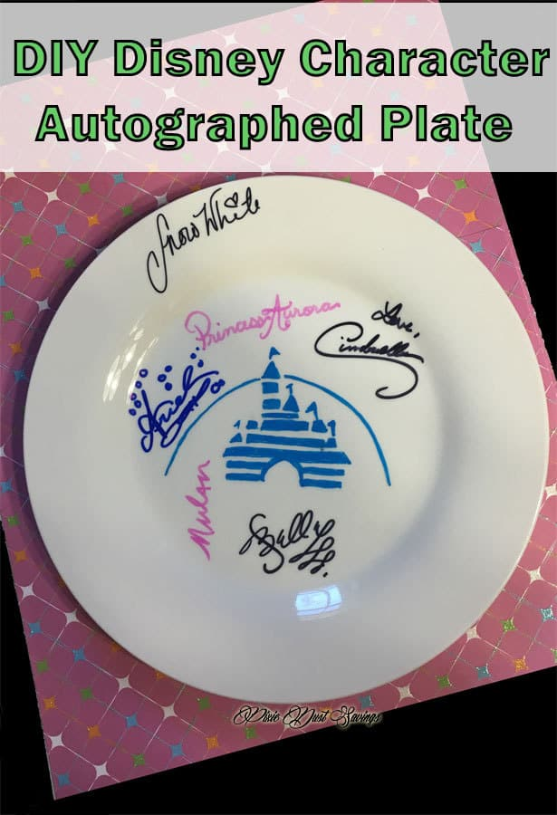 Disney DIY Autographed Plate