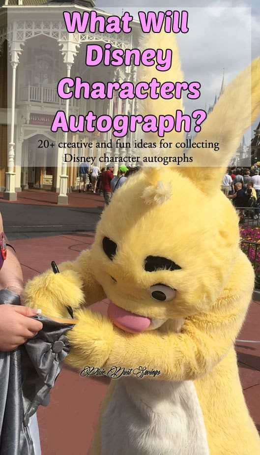 What Will Disney Characters Autograph