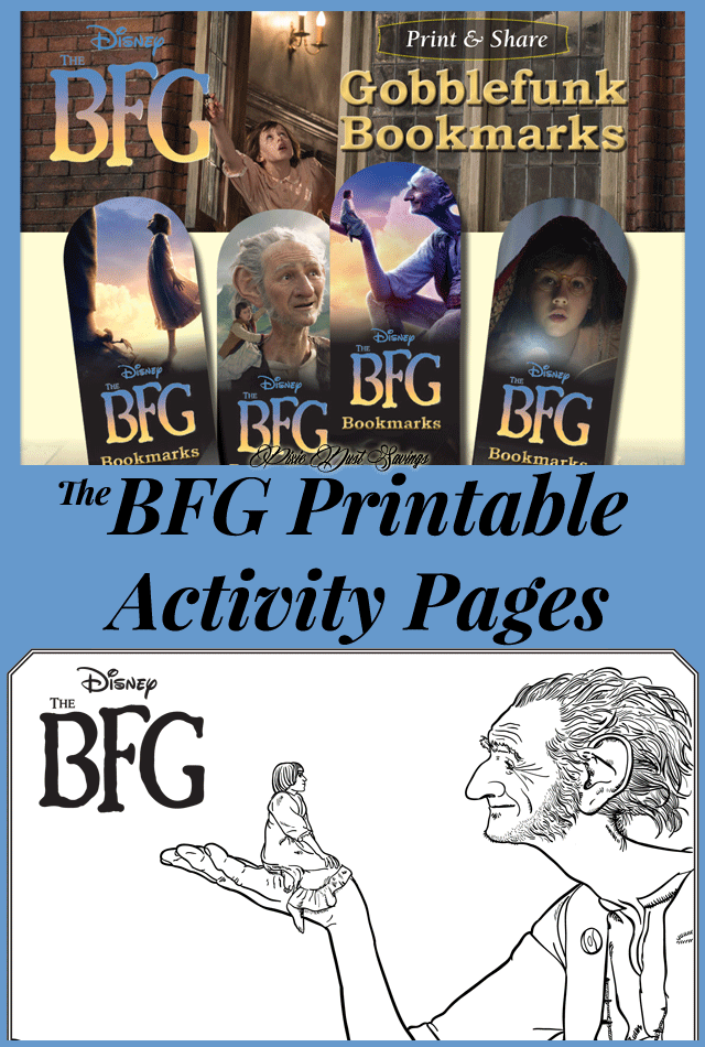 BFG Printable Activity Pages