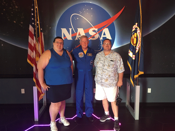 The astronaut we got to meet was Jon McBride