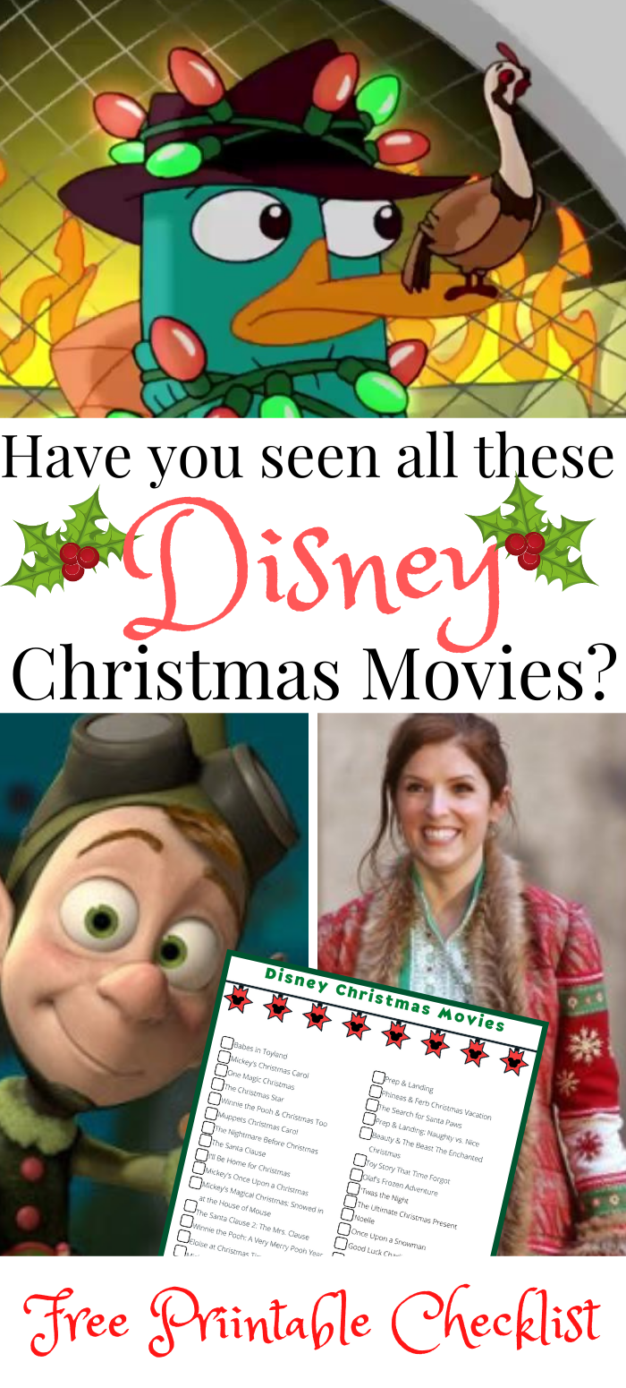 Have you seen all these Disney Christmas Movies