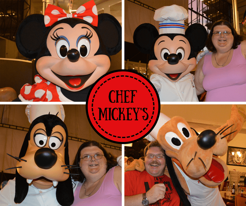 characters at Chef Mickey's