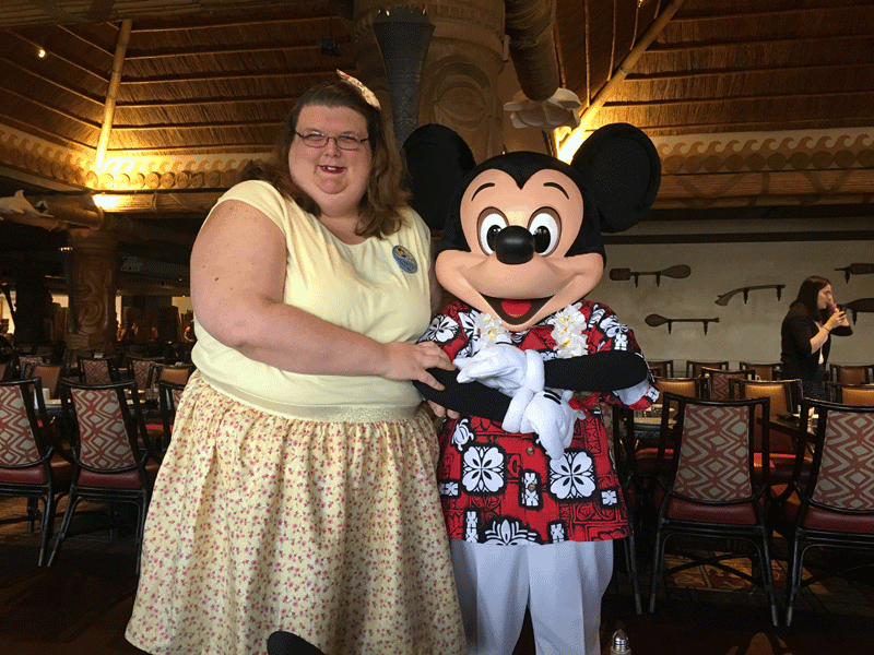 mickey mouse at ohana breakfast