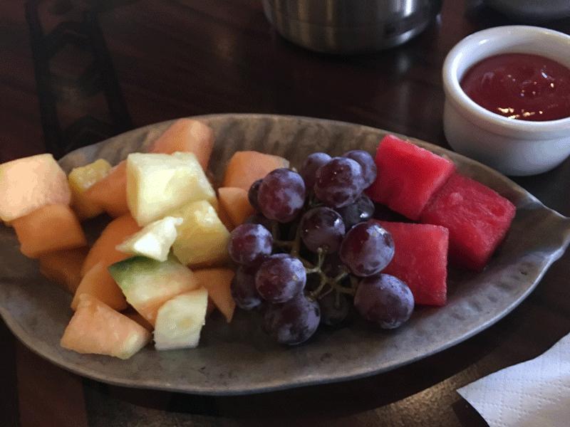 Ohana breakfast fruit platter