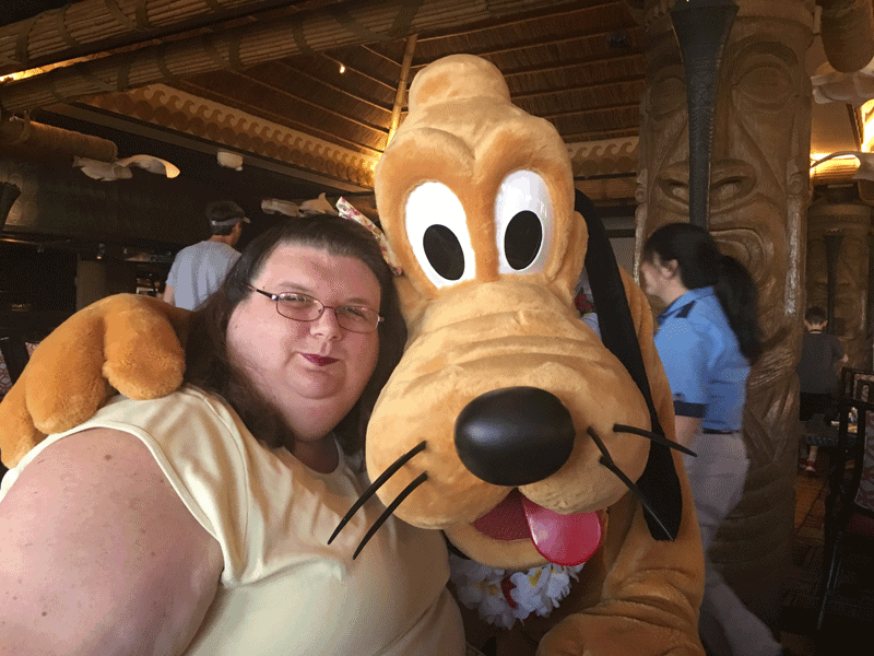 Pluto at Ohana Best Friends Breakfast