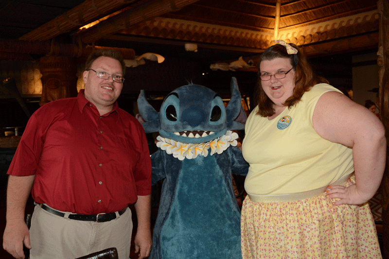 Stitch at Ohana Friends Breakfast