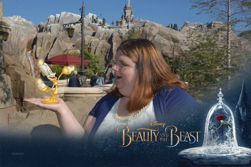 Disney Memory Maker, Beauty and the Beast magic Shot
