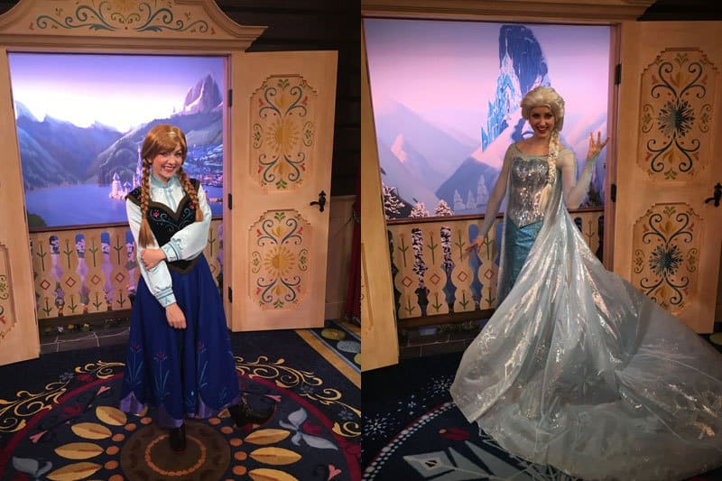 Princess Anna and Queen Elsa at Epcot