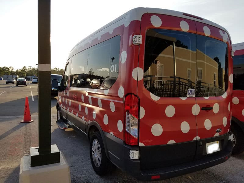 Disney Minnie Vans are wheelchair accessible