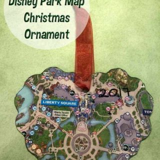 DIY Disney Park Map Ornament