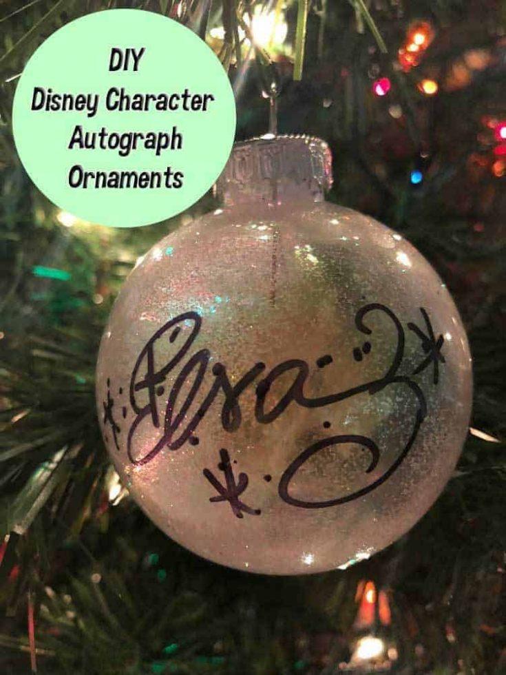 DIY Disney Character Autograph Ornaments   Vacation Keepsake