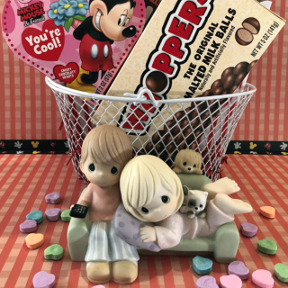 Disney Movie Night Gift Basket with Precious Moments