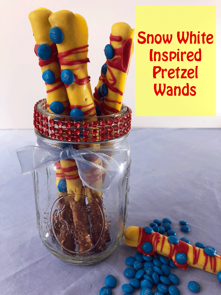 Snow White Inspired Pretzel Wands
