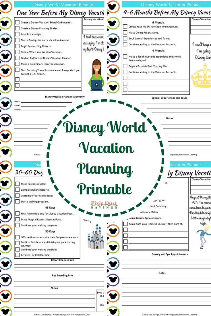 image relating to Trip Planner Printable known as Disney Planet Trip Designing Direct + Cost-free Disney Developing