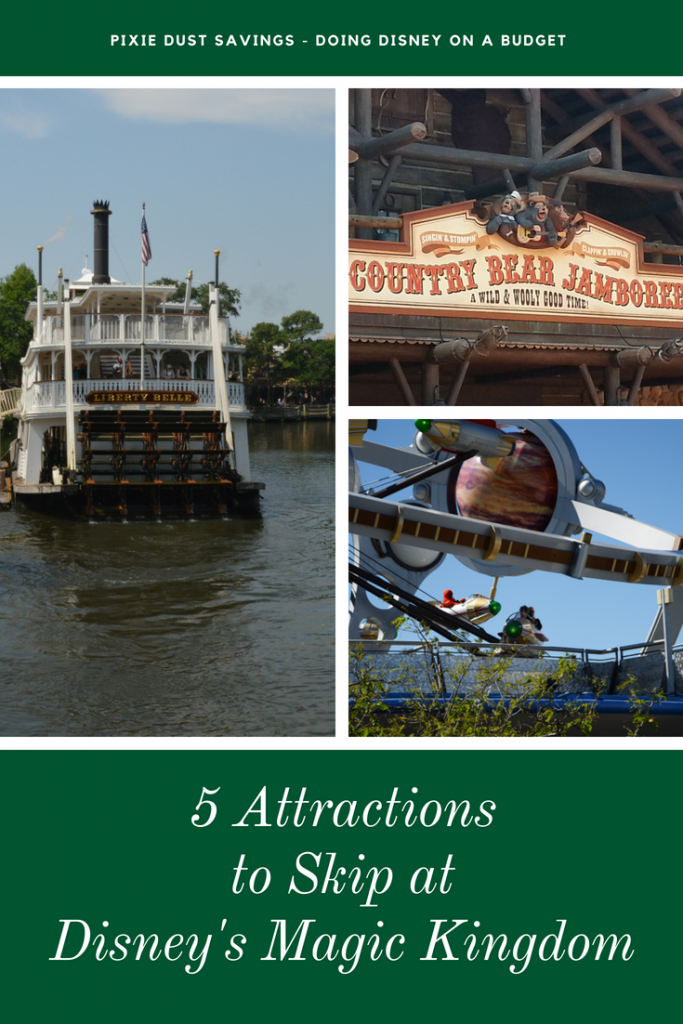 Attractions to Skip at The Magic Kingdom