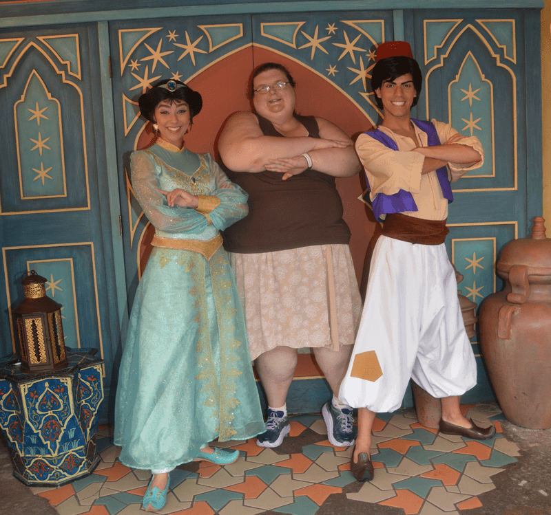 Princess Jasmine and Aladdin at Magic Kingdom