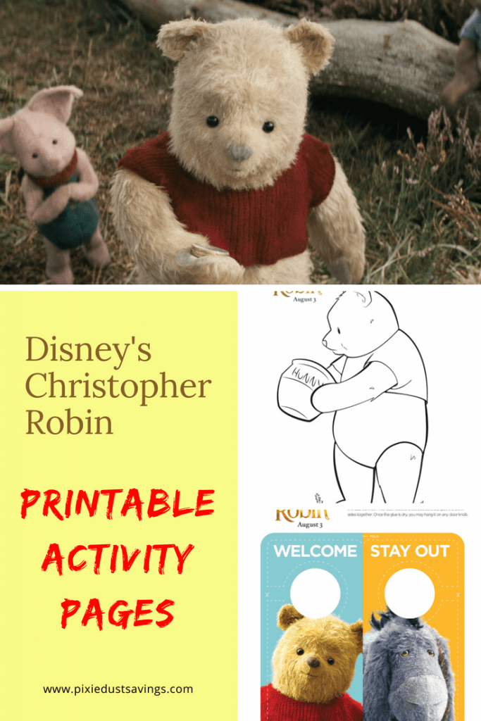 Christopher Robin Printable Activity Pages