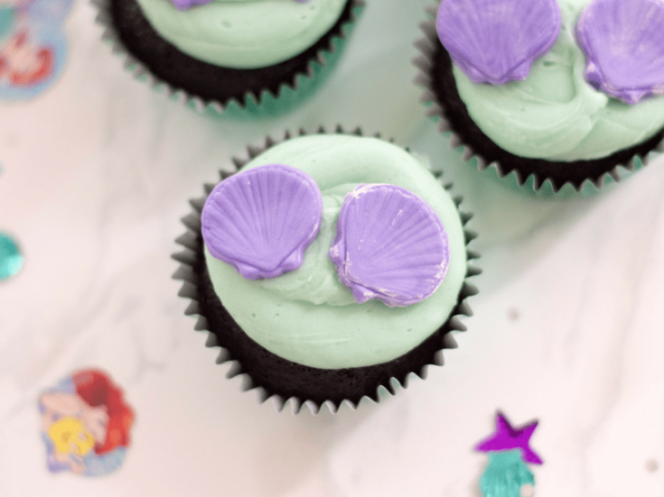 Disney's Little Mermaid Inspired Cupcakes