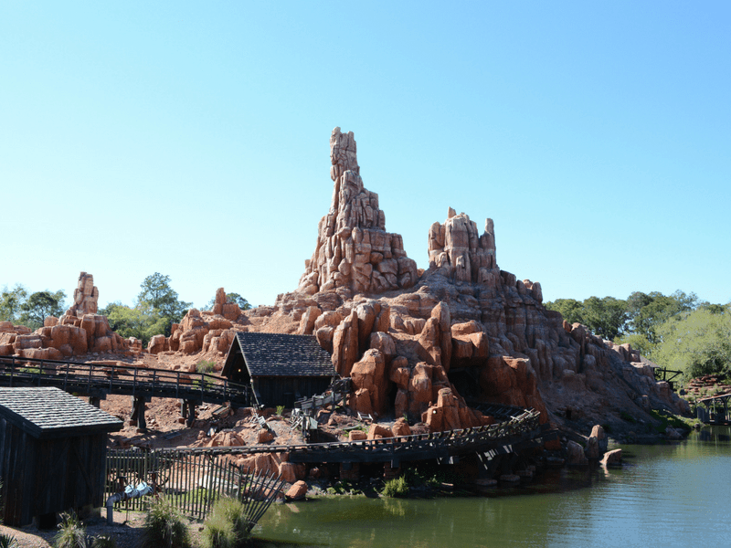 Disney World Thrill Rides Big Thunder Mountain