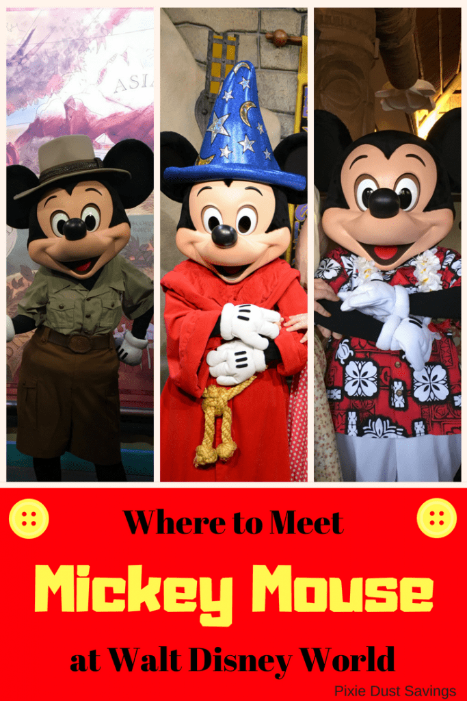 where to meet mickey mouse at walt disney world