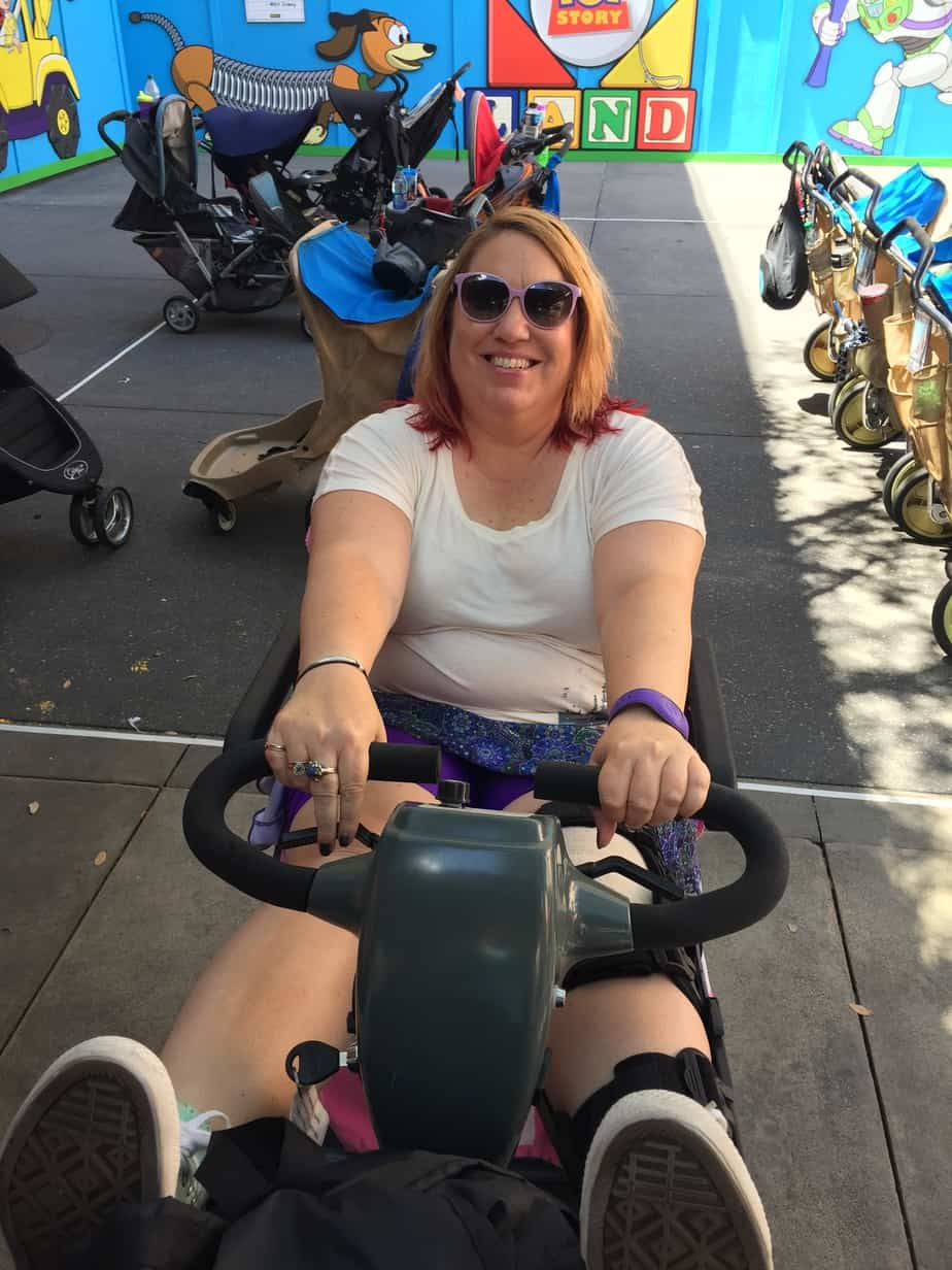 Disabled at Disney mobility device