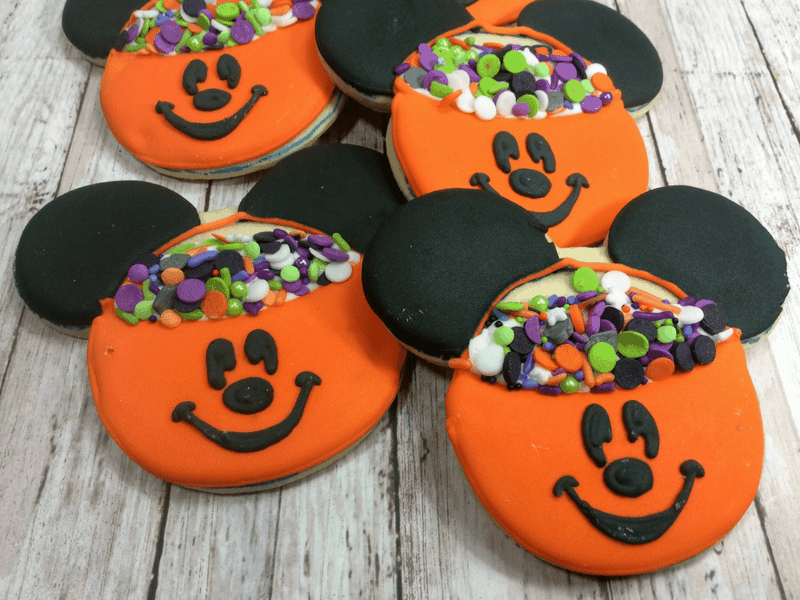 Mickey Mouse Jack O Lantern Cookies