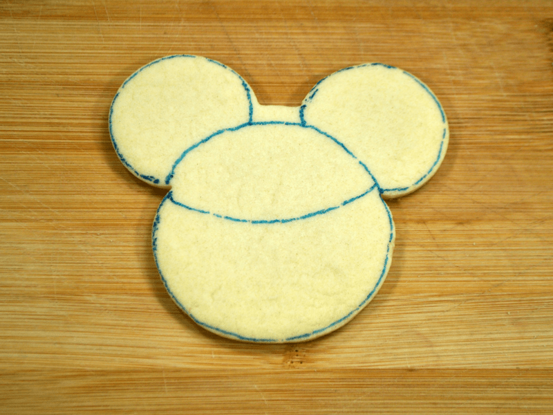 Mickey Mouse Jack O Lantern Cookies design