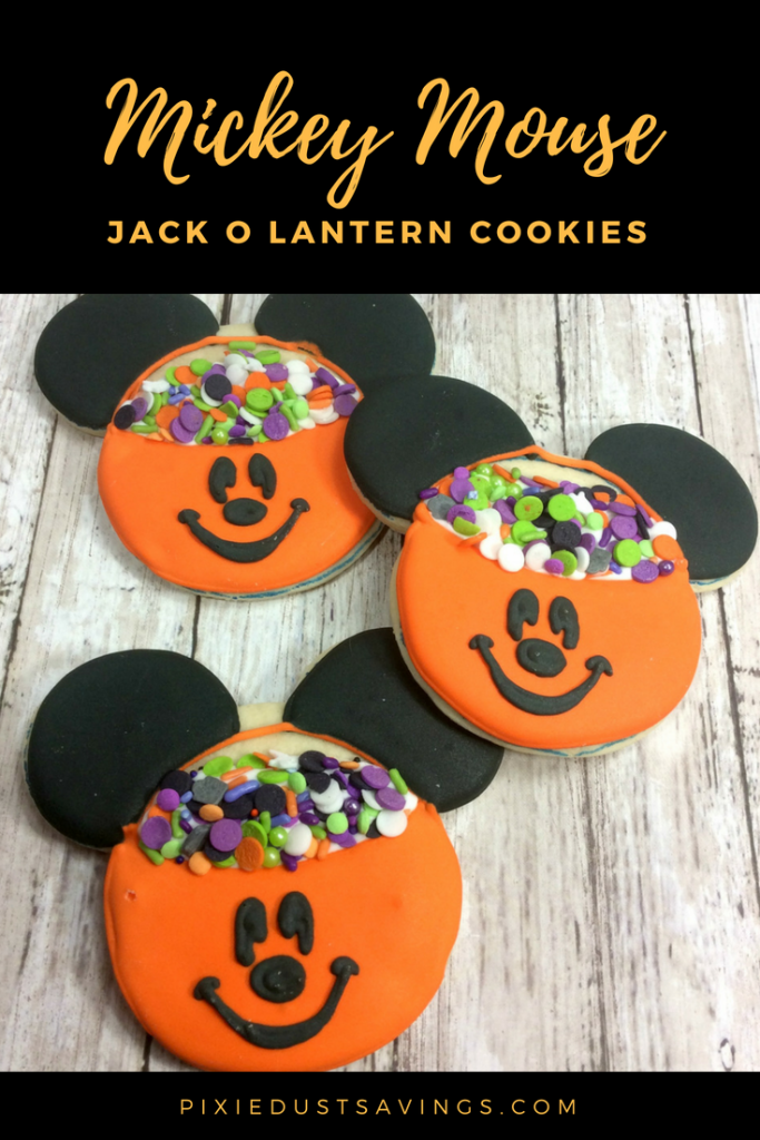 Disney Halloween Cookies Mickey Mouse Jack O Lantern Cookies