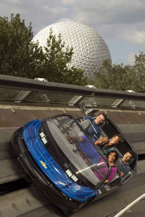 Disney thrill rides test track