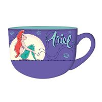 Silver Buffalo DP114633 Disney's Little Mermaid Princess Ariel Moonlight Ceramic Soup Mug, 24 oz, Multicolor