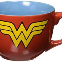 Silver Buffalo WW0224 DC Comics Wonder Woman Uniform Soup Mug, 24-Ounces