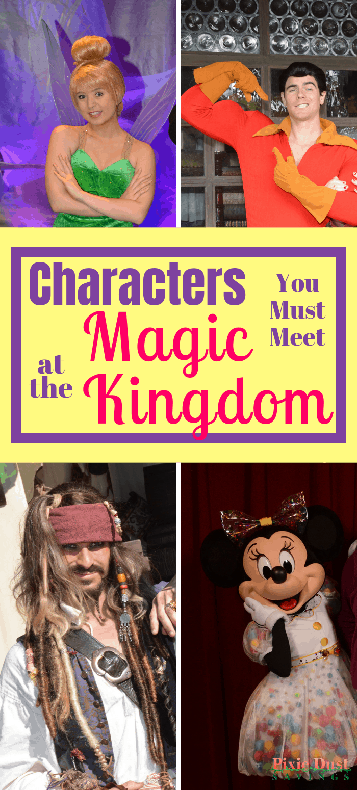 Top Character meet and greets at the Magic Kingdom