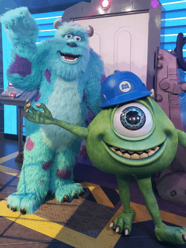 mike and sulley at hollywood studios