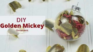 DIY Golden Mickey Ornament