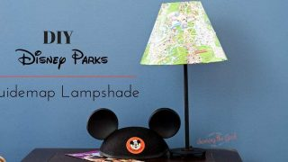 DIY Disney Parks Guidemap Lampshade