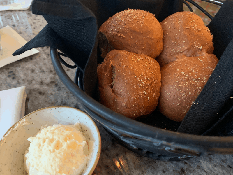 wheat rolls with honey butter at the Grand Floridian cafe