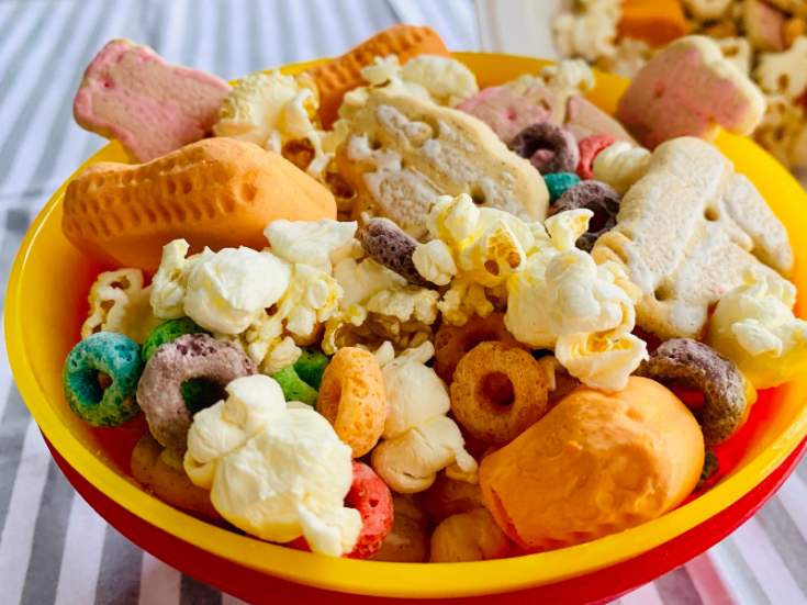 Dumbo Inspired Snack Mix