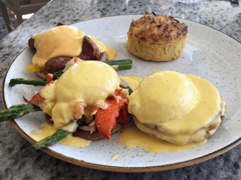 egg Benedict trio at the Grand Floridian cafe