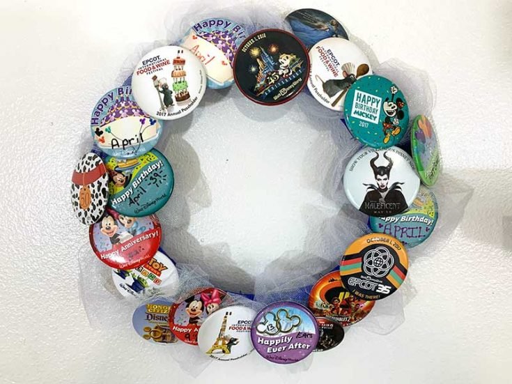 DIY Disney Button Wreath