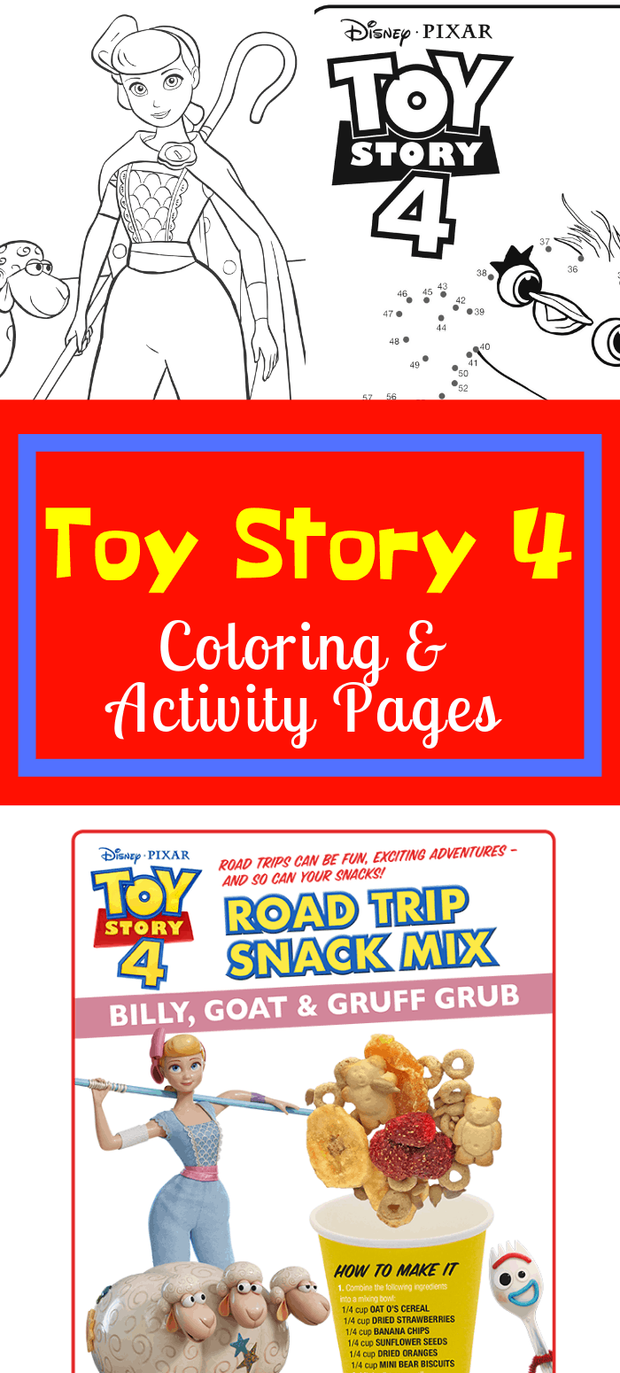 Printable Toy Story 4 Activity Sheets